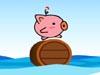 海上滾木桶