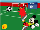 米老鼠踢足球