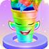 獨角獸彩虹冰淇淋蛋卷